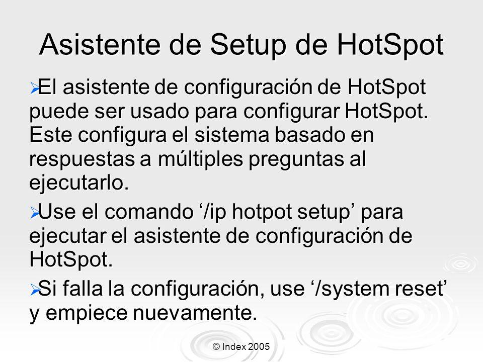 Asistente de Setup de HotSpot
