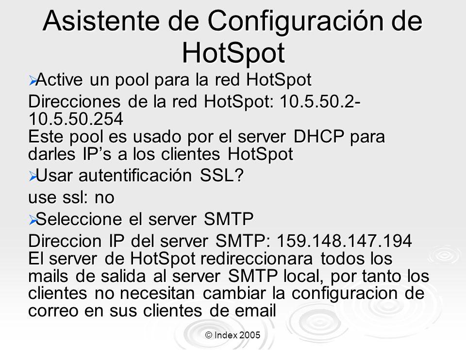 Asistente de Configuración de HotSpot