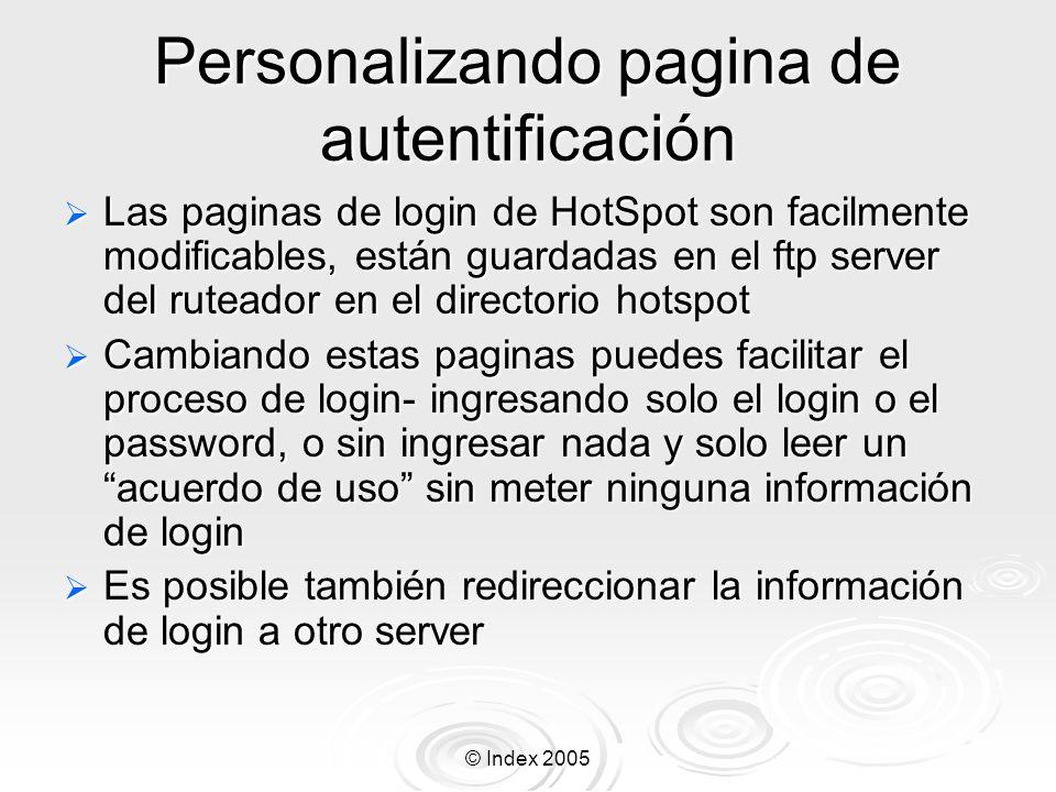 Personalizando pagina de autentificación
