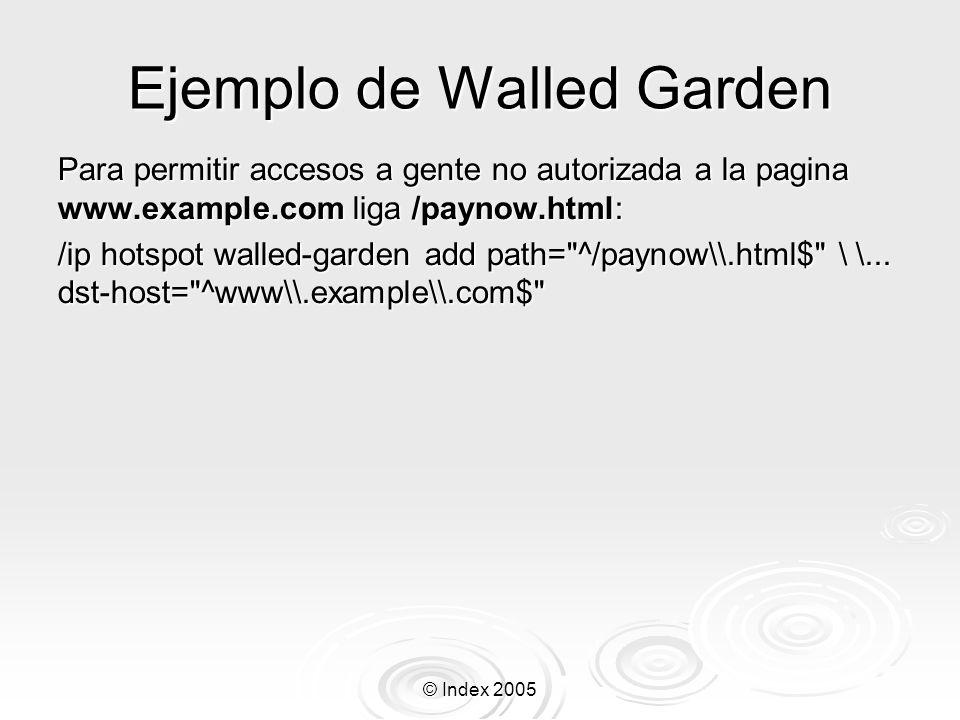 Ejemplo de Walled Garden