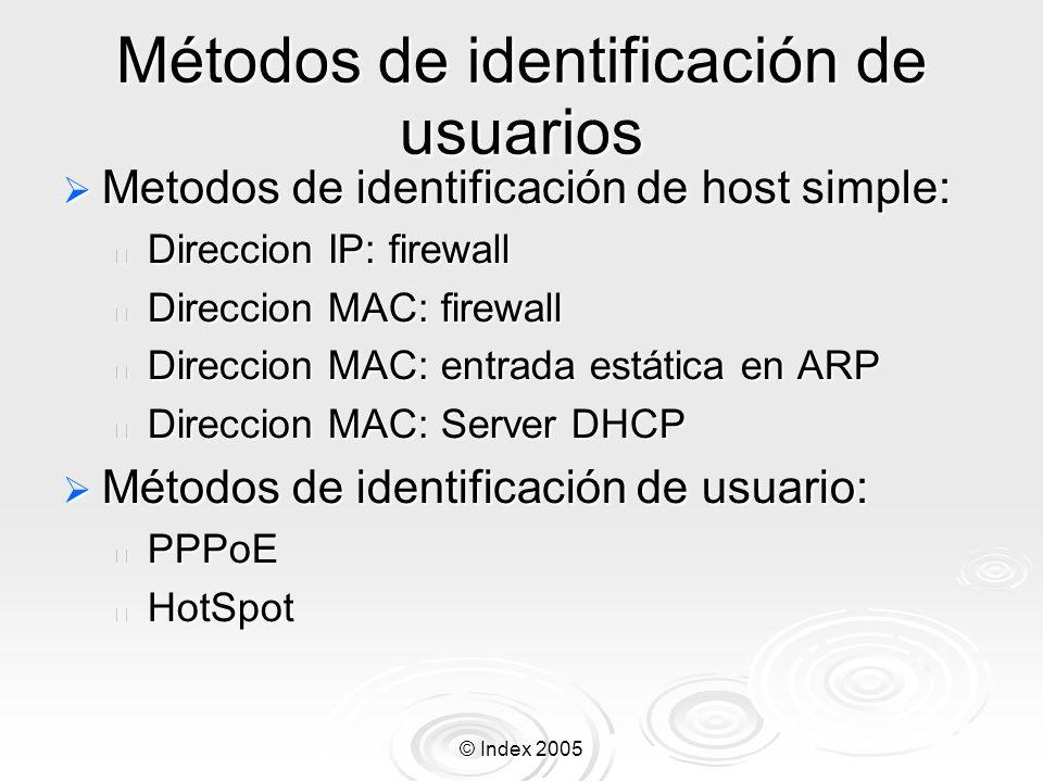 Métodos de identificación de usuarios