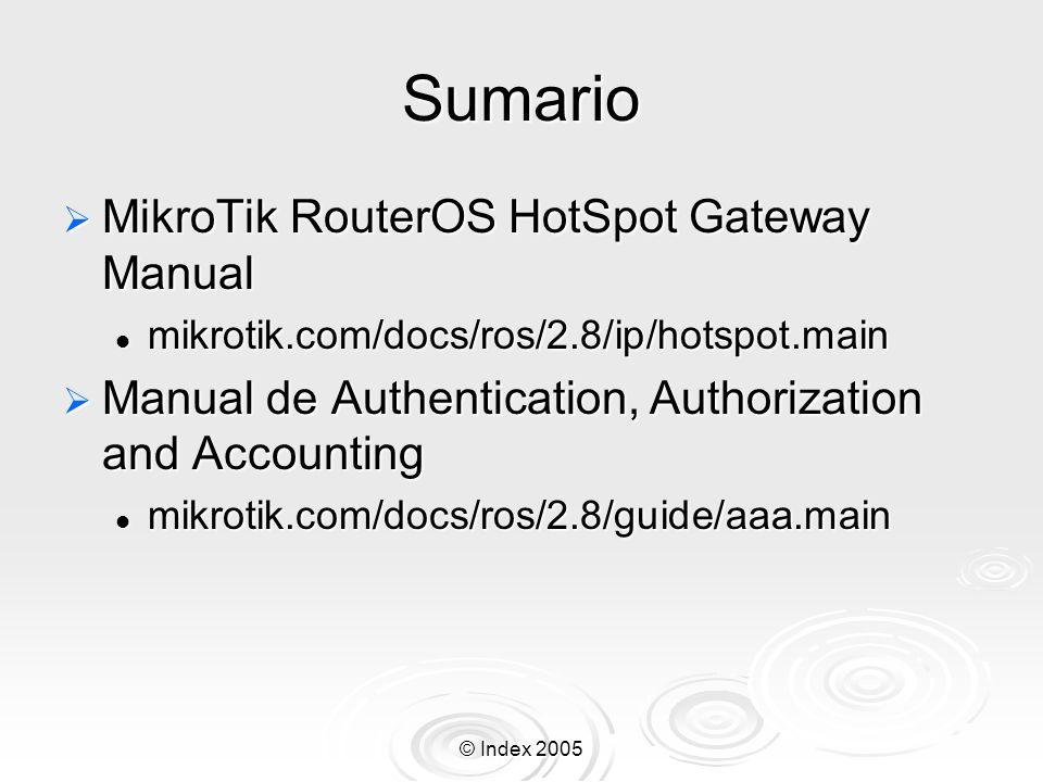Sumario MikroTik RouterOS HotSpot Gateway Manual