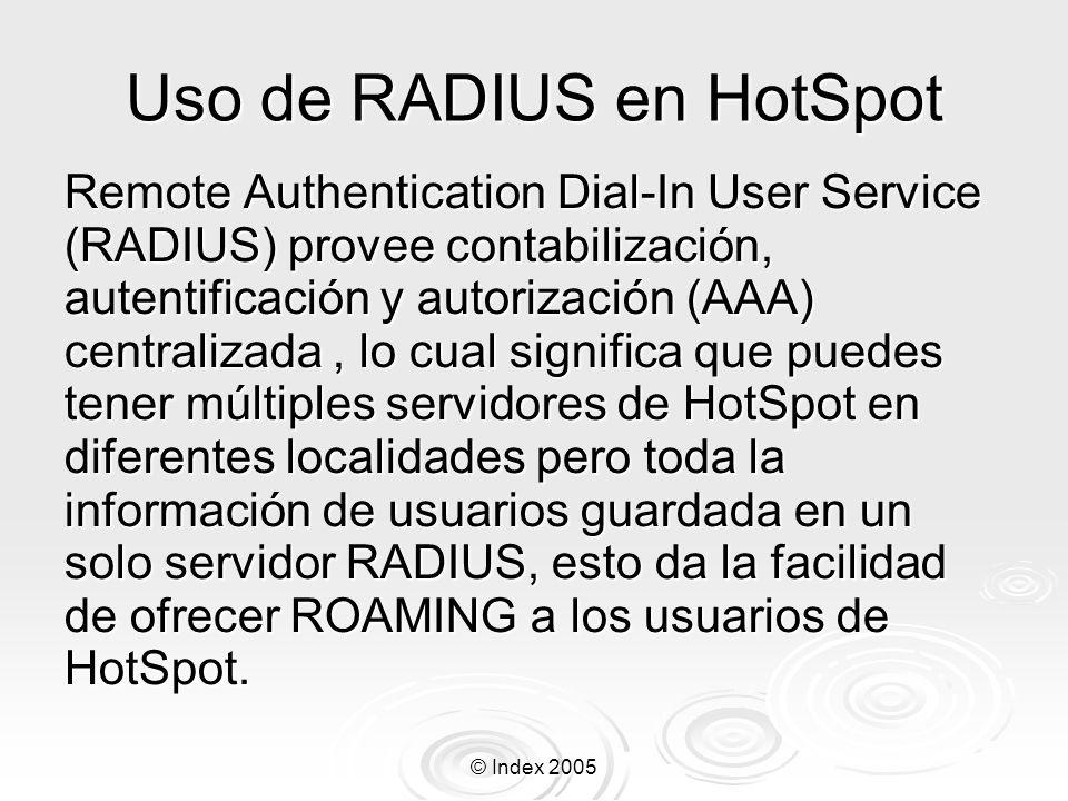 Uso de RADIUS en HotSpot