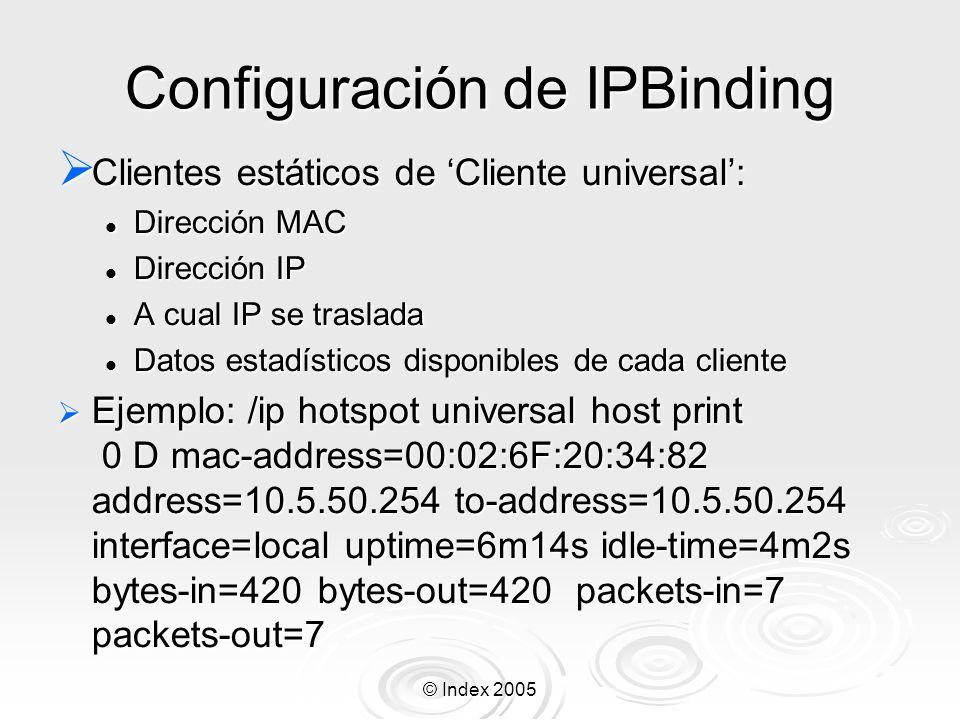 Configuración de IPBinding