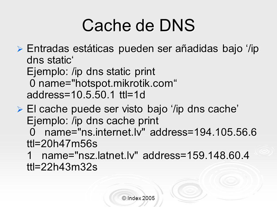 Cache de DNS