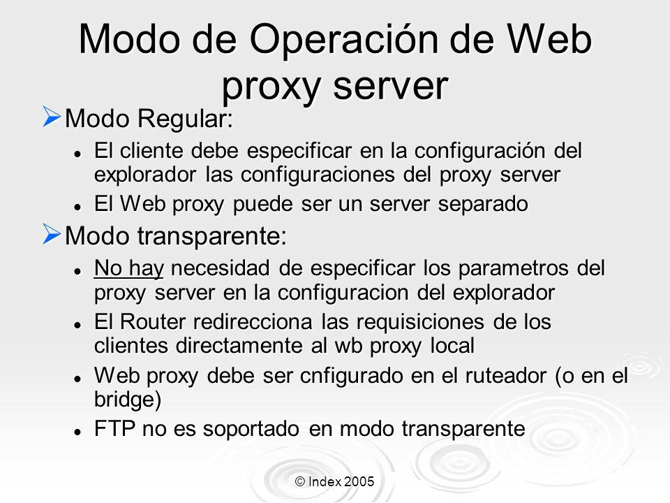 Modo de Operación de Web proxy server