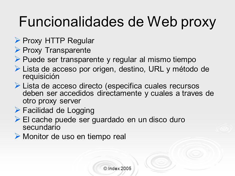 Funcionalidades de Web proxy