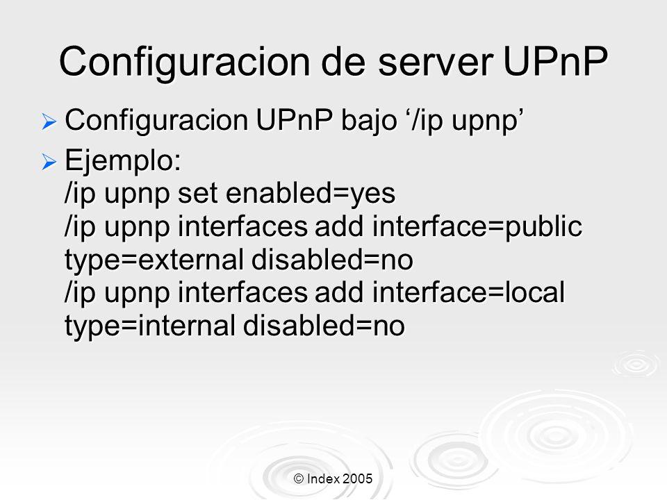 Configuracion de server UPnP