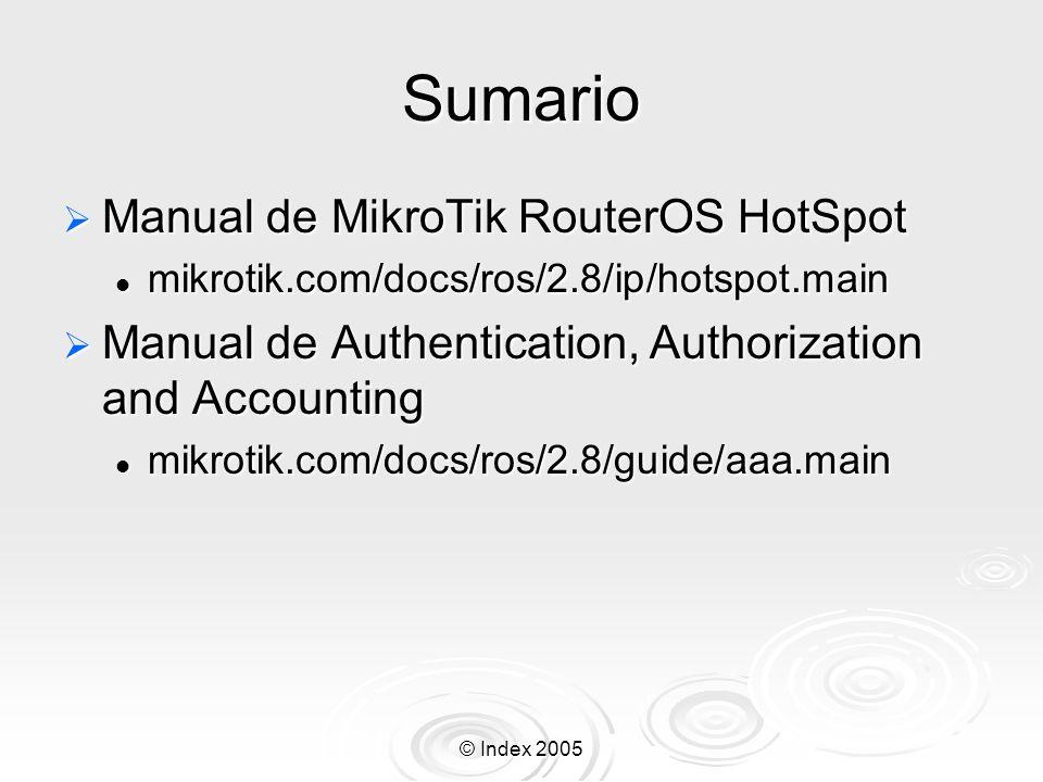 Sumario Manual de MikroTik RouterOS HotSpot