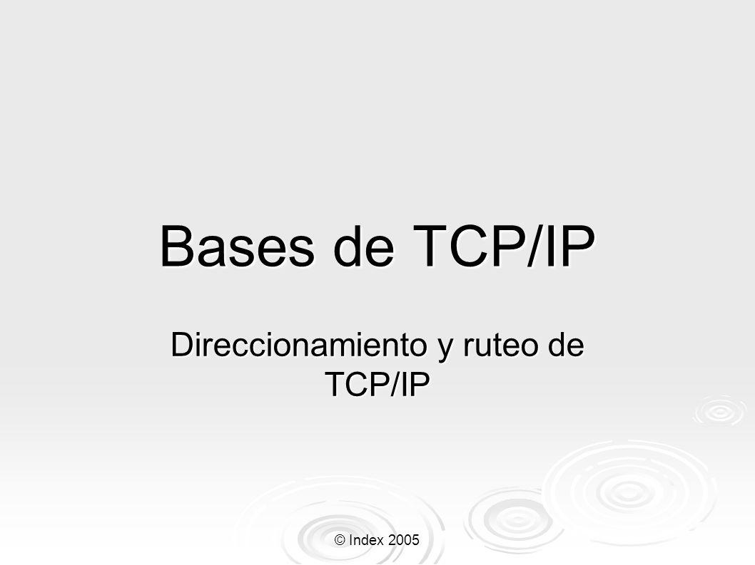 Direccionamiento y ruteo de TCP/IP