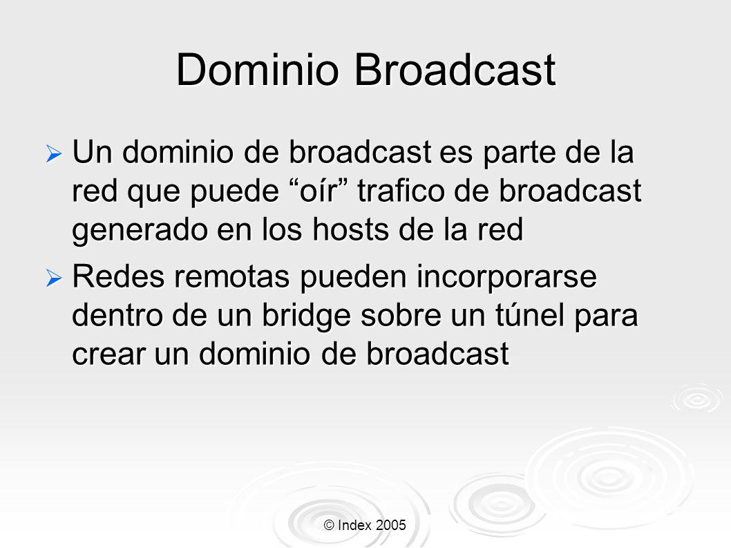 Dominio Broadcast Un dominio de broadcast es parte de la red que puede oír trafico de broadcast generado en los hosts de la red.