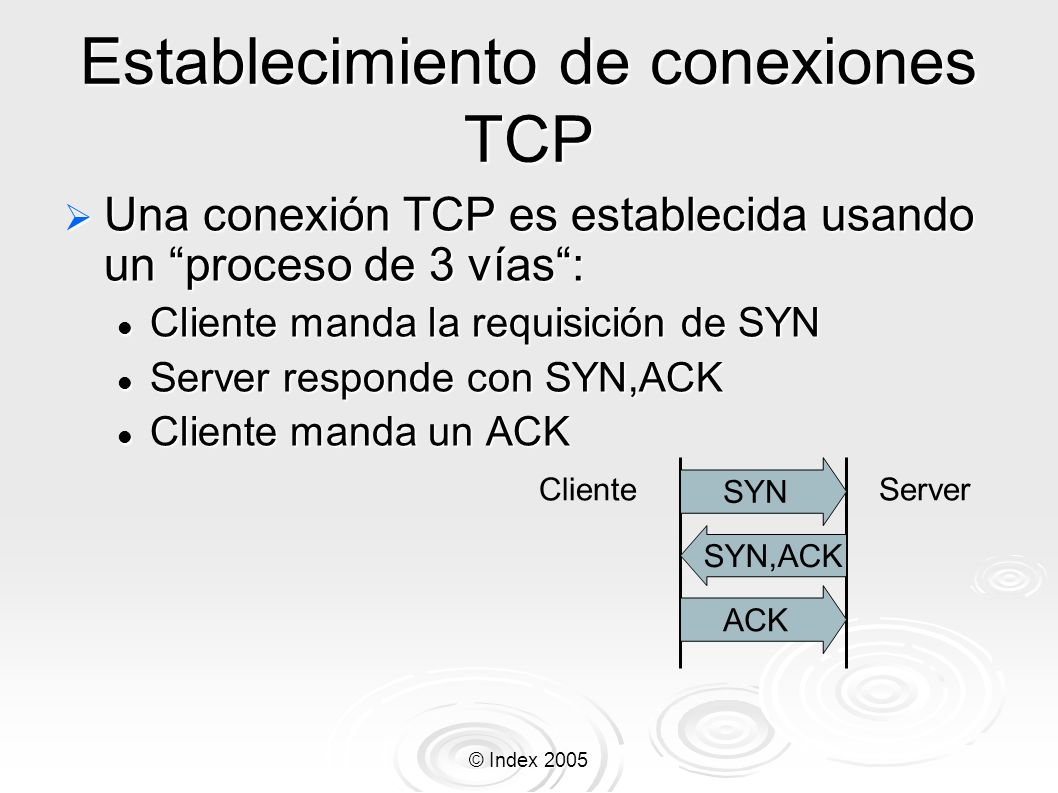 Establecimiento de conexiones TCP