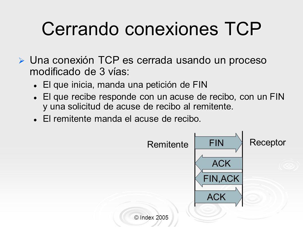 Cerrando conexiones TCP