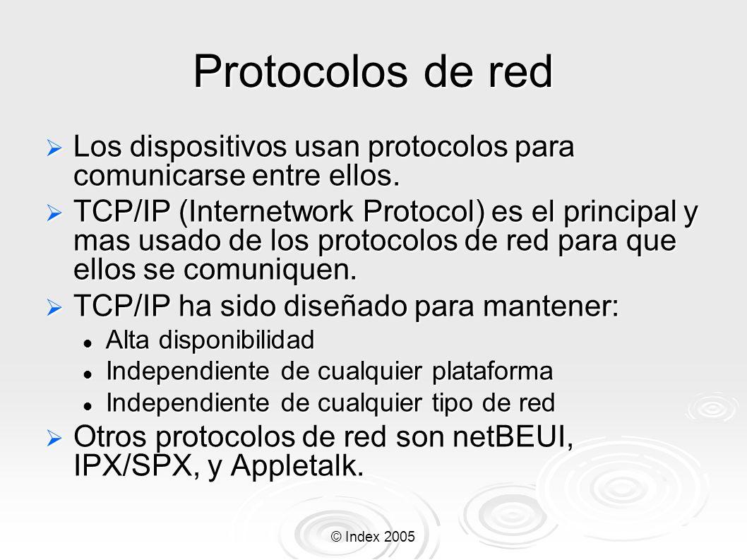 Protocolos de red Los dispositivos usan protocolos para comunicarse entre ellos.