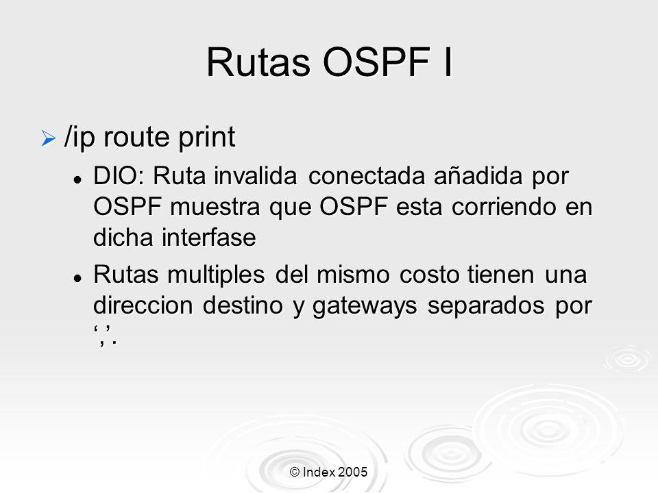 Rutas OSPF I /ip route print