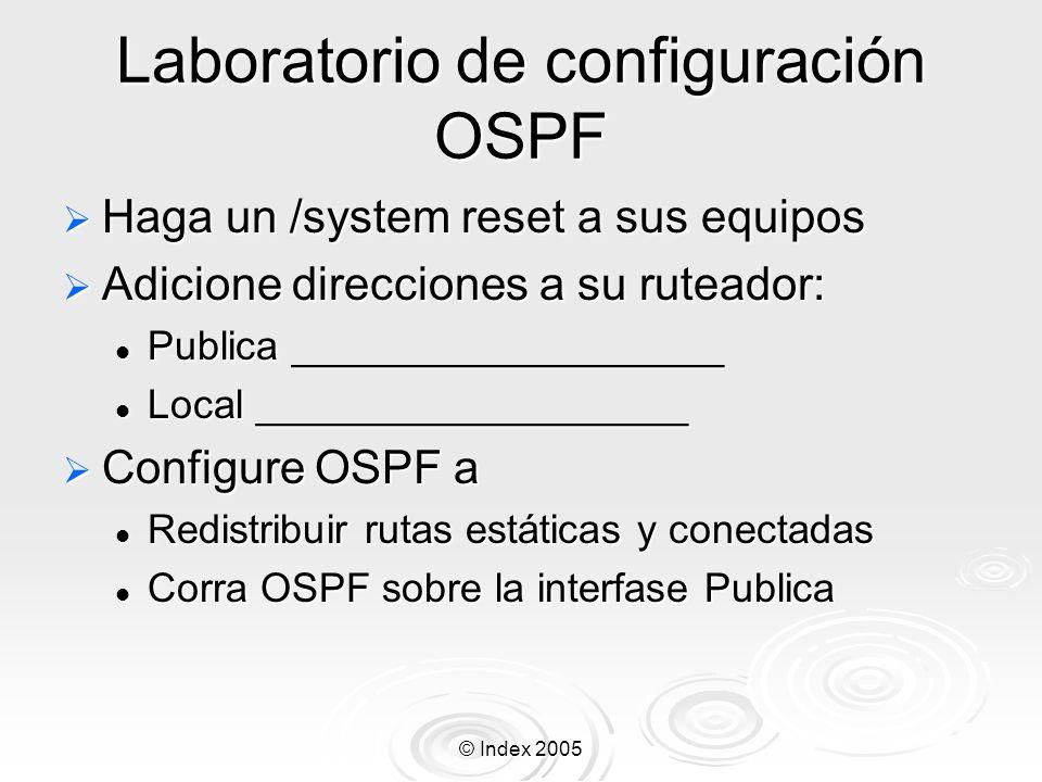 Laboratorio de configuración OSPF
