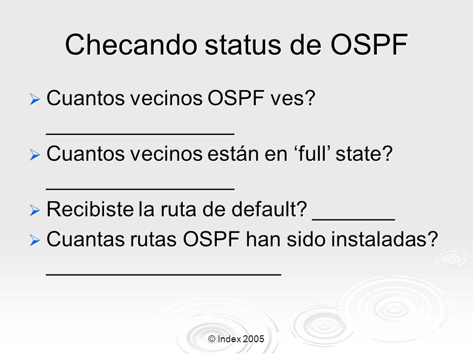 Checando status de OSPF