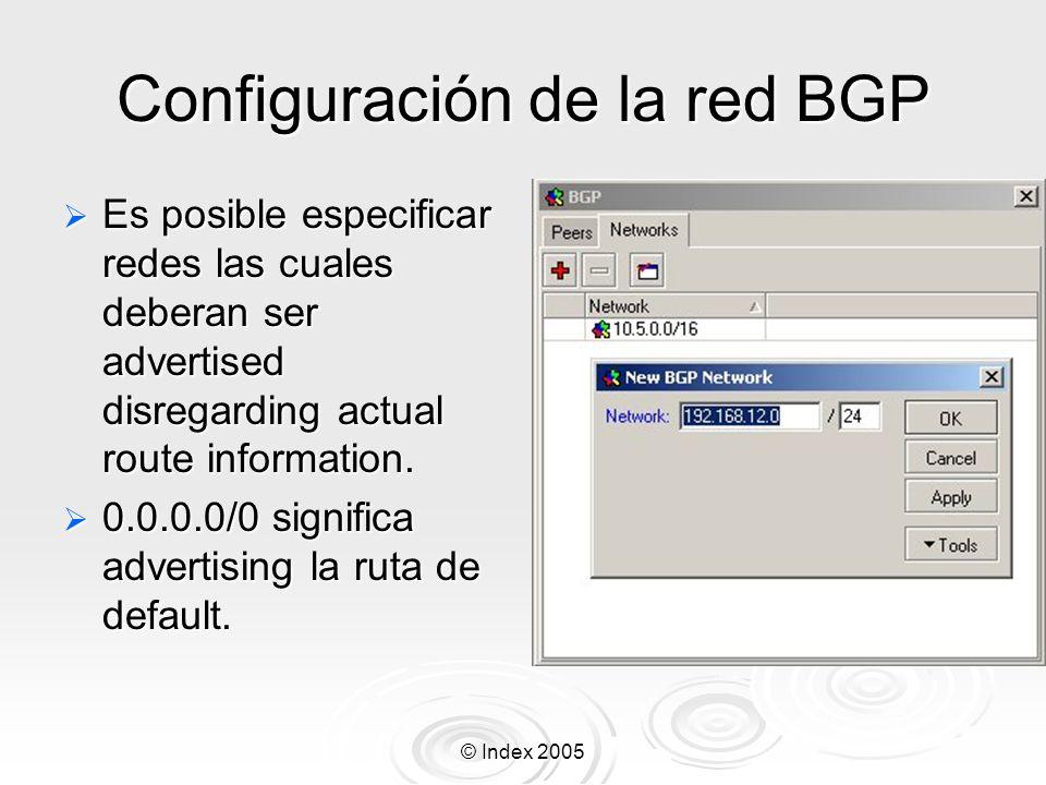Configuración de la red BGP