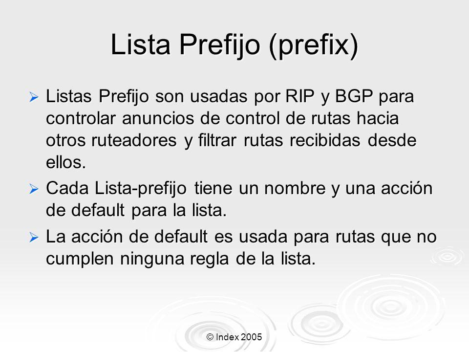Lista Prefijo (prefix)