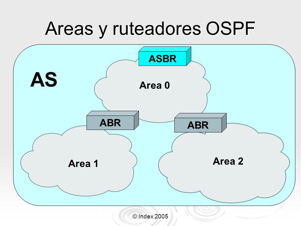 Areas y ruteadores OSPF
