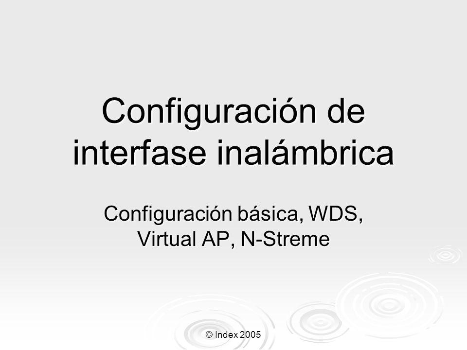 Configuración de interfase inalámbrica