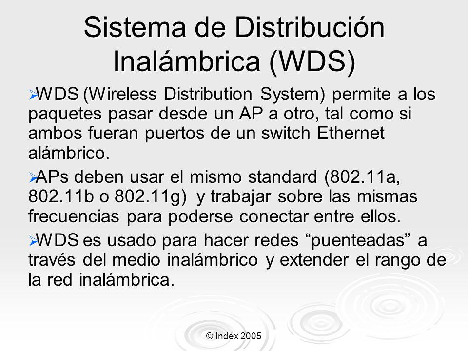 Sistema de Distribución Inalámbrica (WDS)