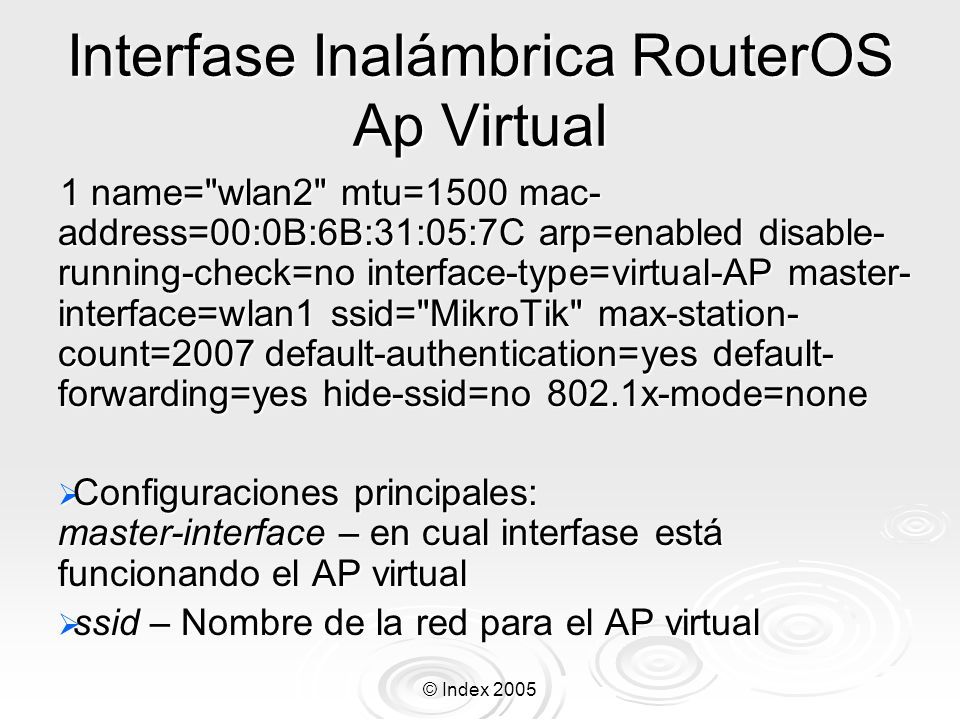 Interfase Inalámbrica RouterOS Ap Virtual