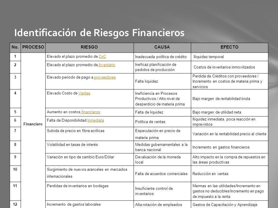 Identificación de Riesgos Financieros
