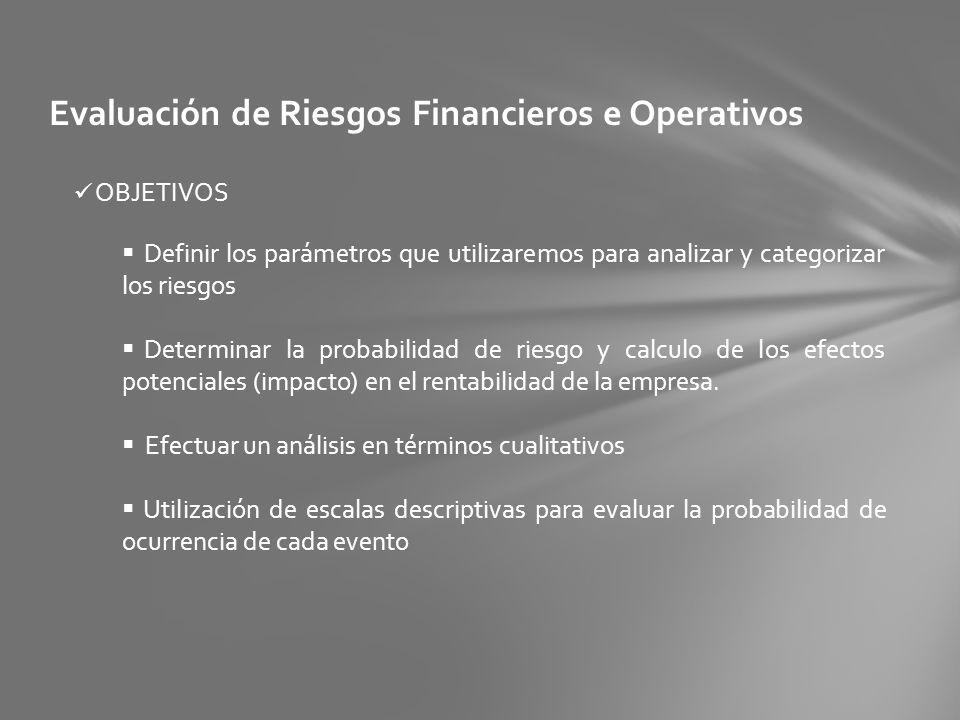 Evaluación de Riesgos Financieros e Operativos