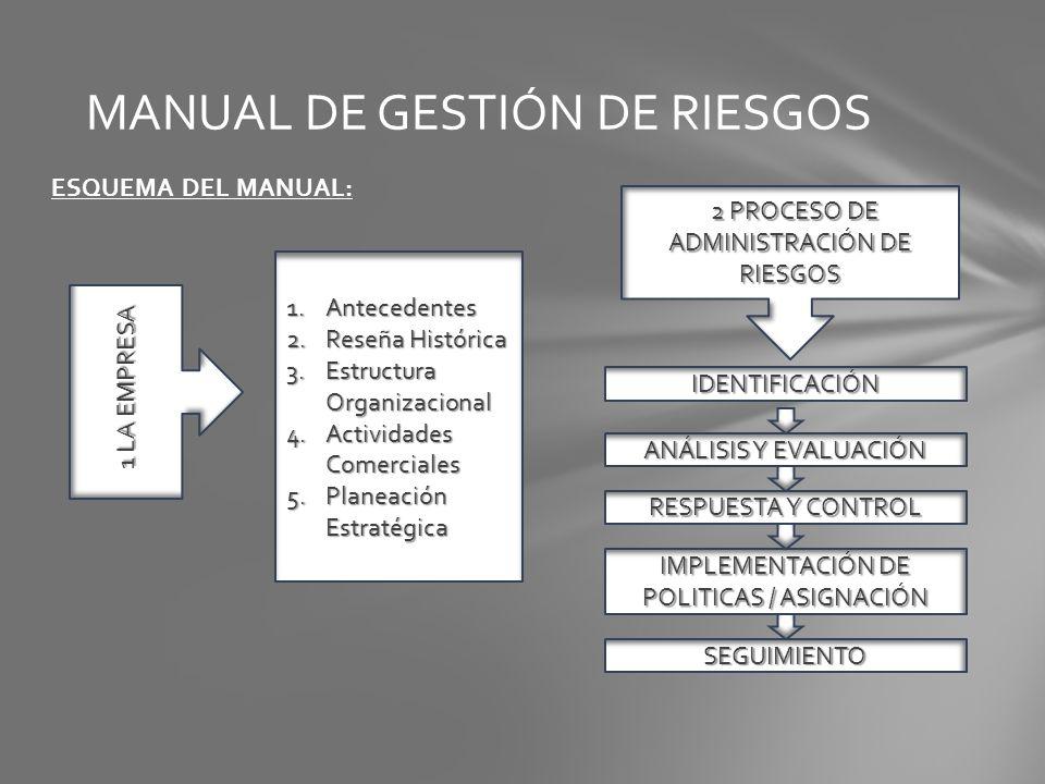 MANUAL DE GESTIÓN DE RIESGOS