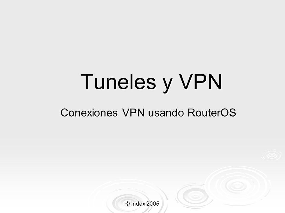 Conexiones VPN usando RouterOS
