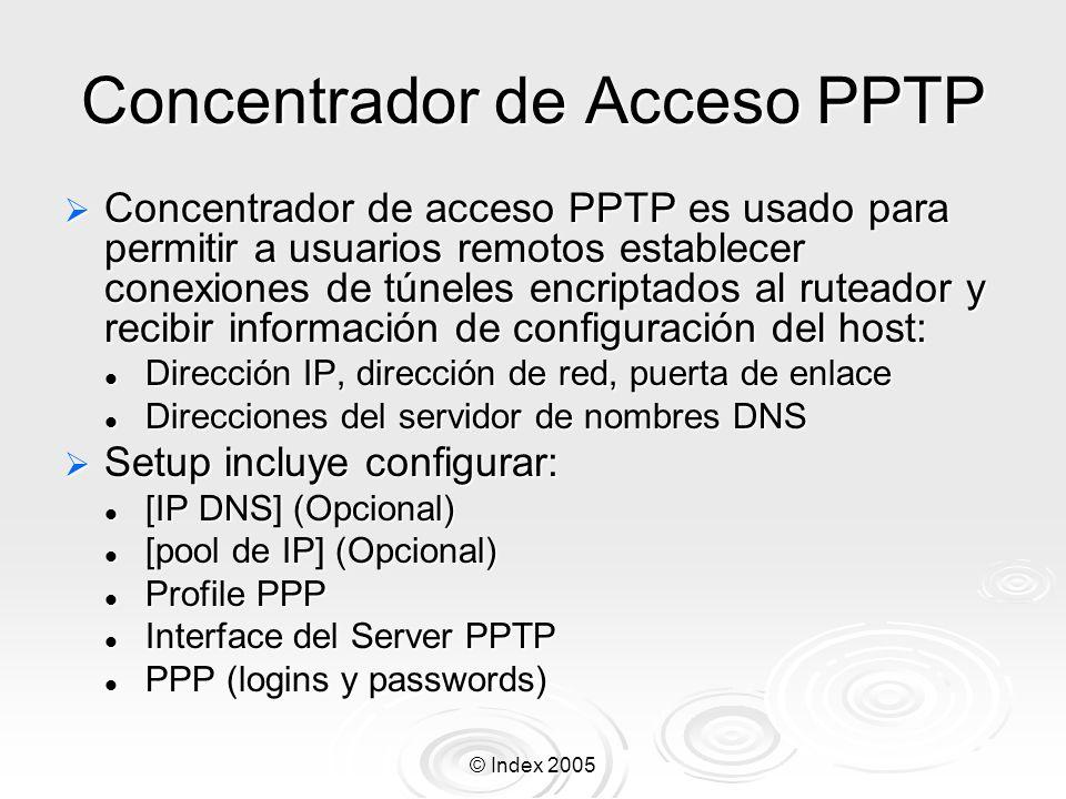 Concentrador de Acceso PPTP