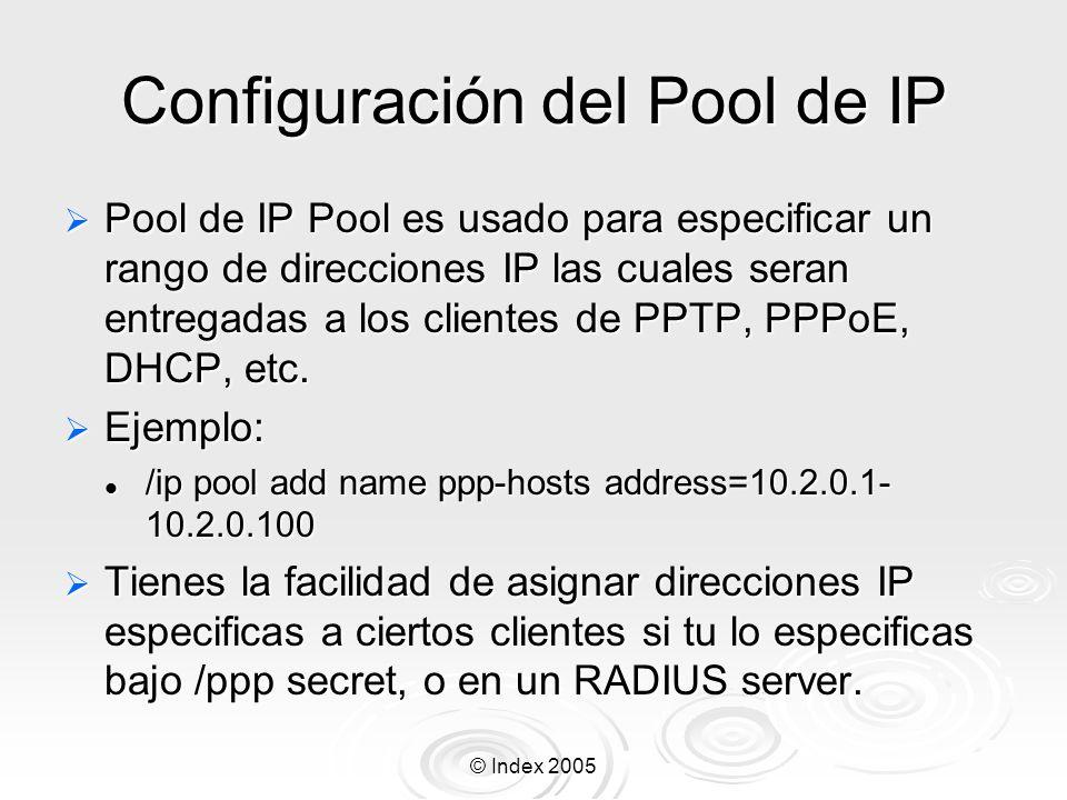 Configuración del Pool de IP