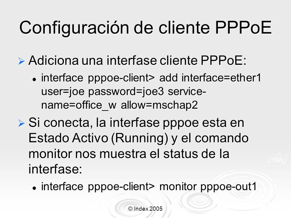 Configuración de cliente PPPoE