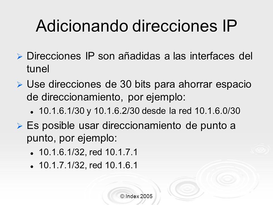 Adicionando direcciones IP