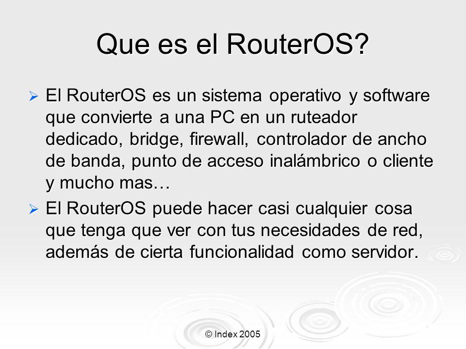Que es el RouterOS