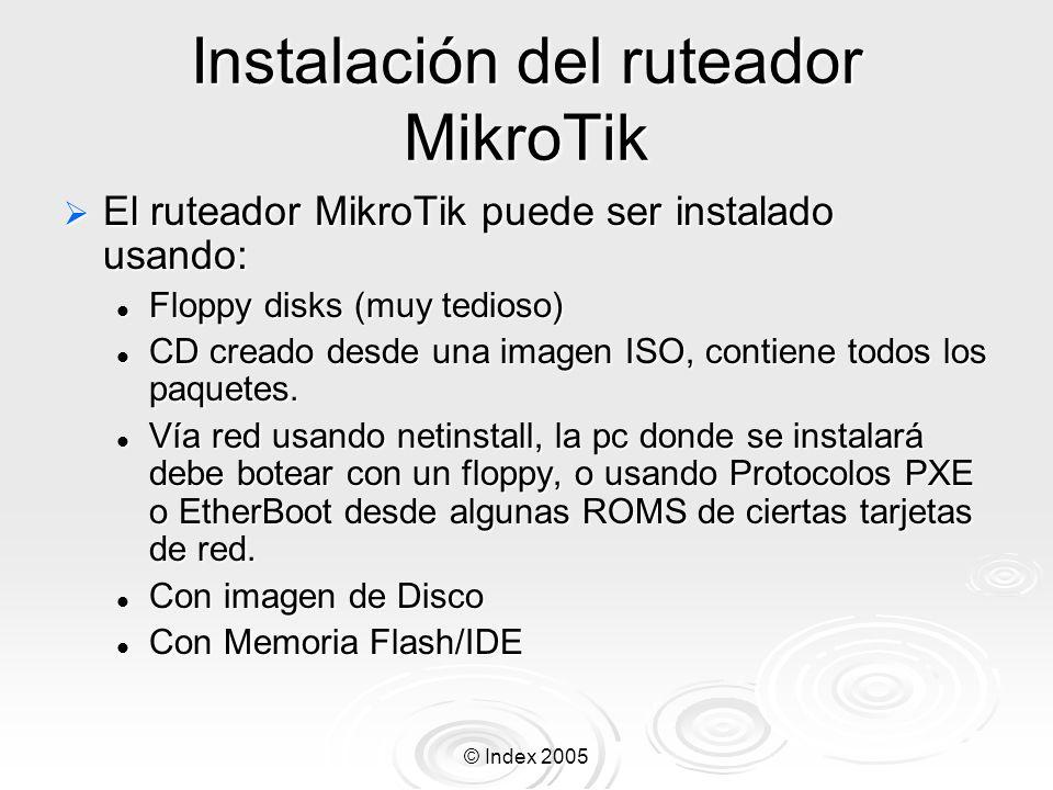 Instalación del ruteador MikroTik