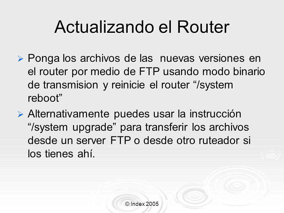 Actualizando el Router
