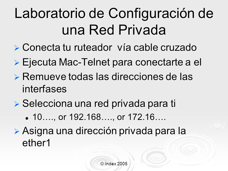 Laboratorio de Configuración de una Red Privada