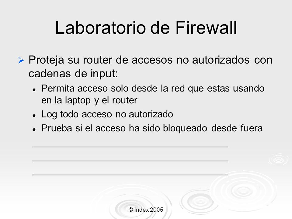 Laboratorio de Firewall