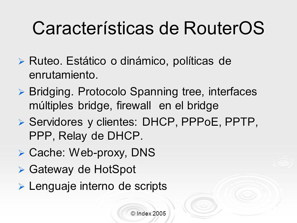 Características de RouterOS