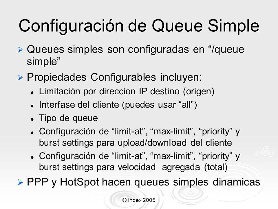 Configuración de Queue Simple
