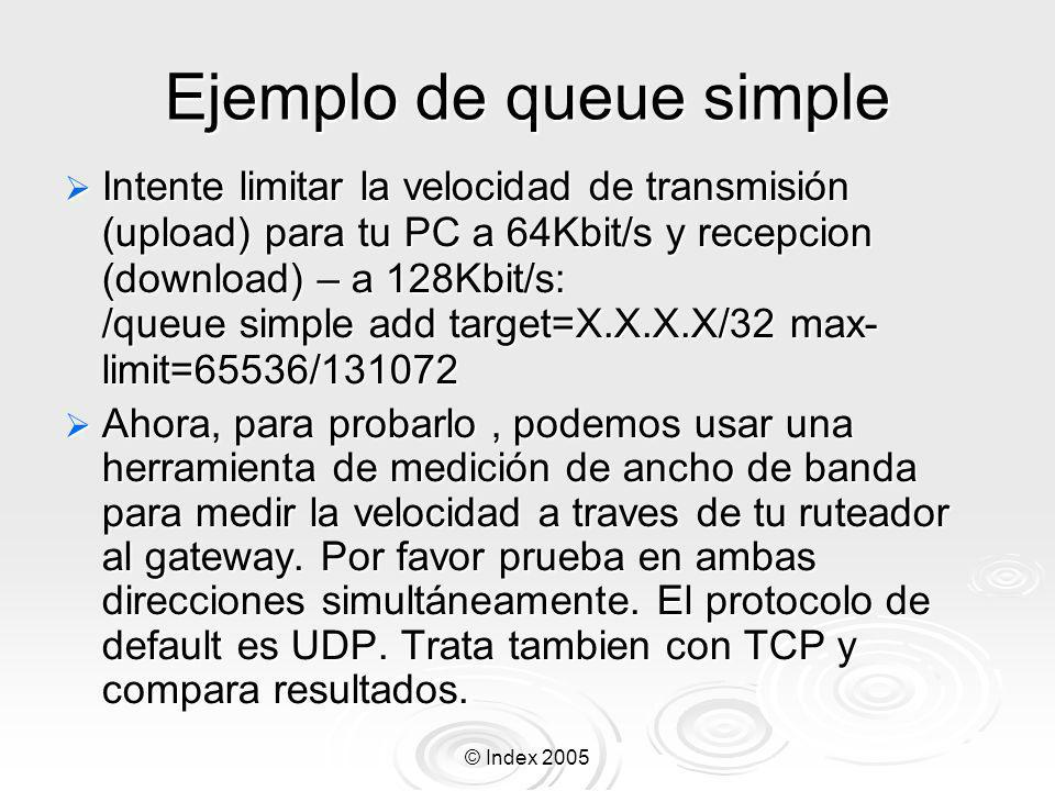 Ejemplo de queue simple