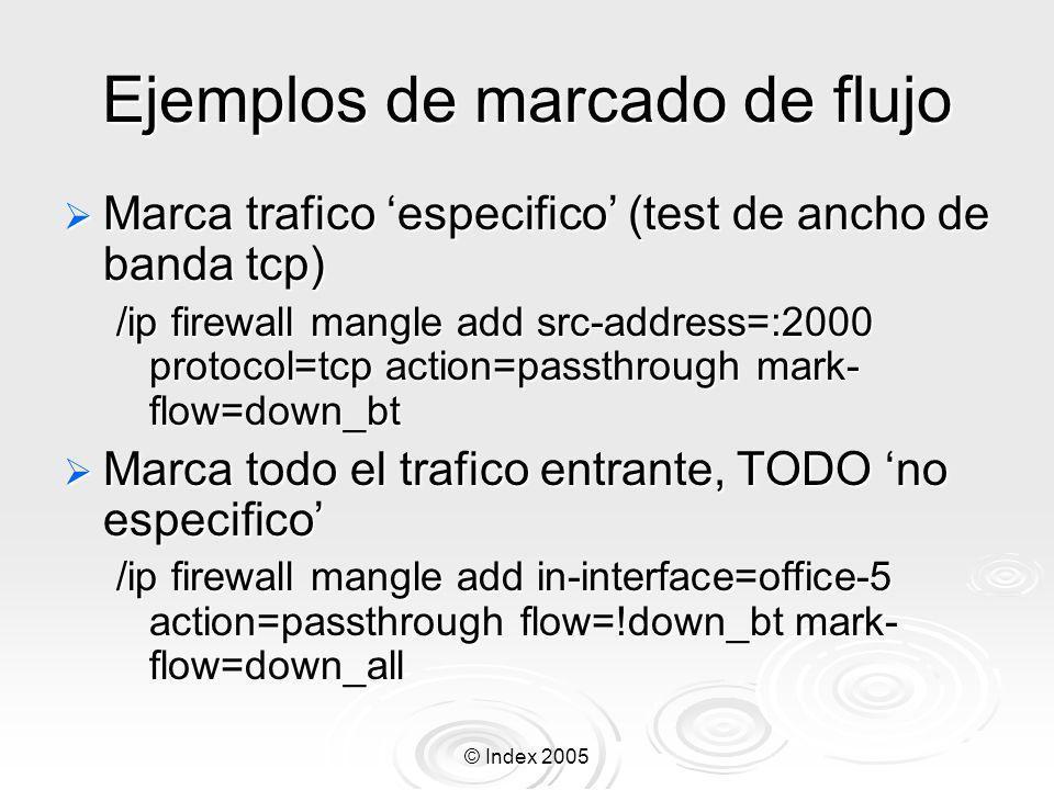 Ejemplos de marcado de flujo