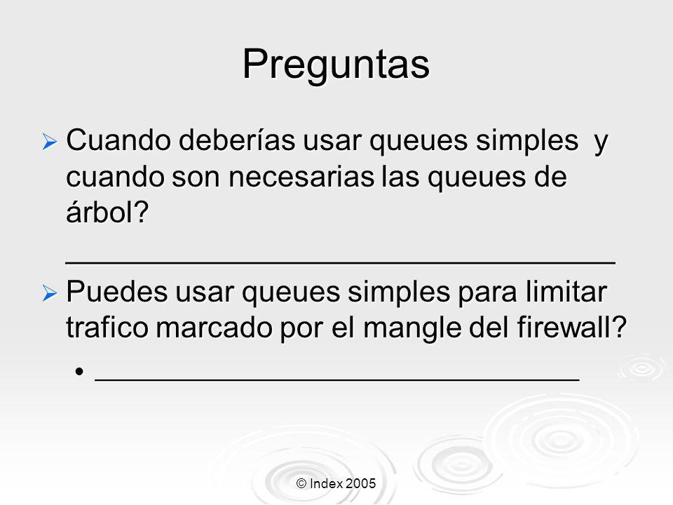 Preguntas Cuando deberías usar queues simples y cuando son necesarias las queues de árbol _________________________________.