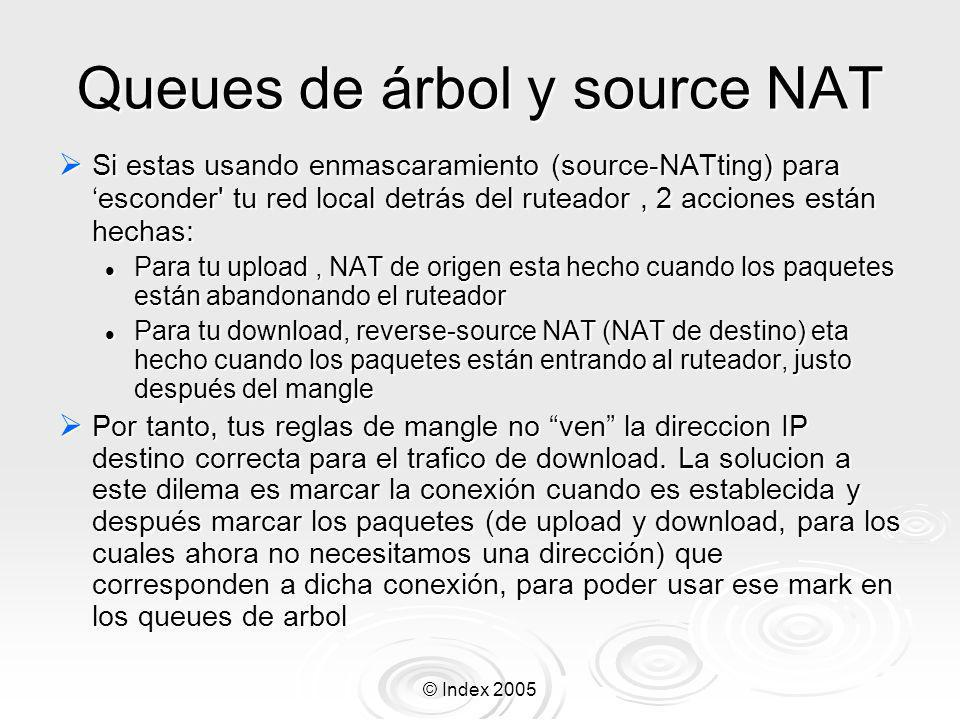 Queues de árbol y source NAT