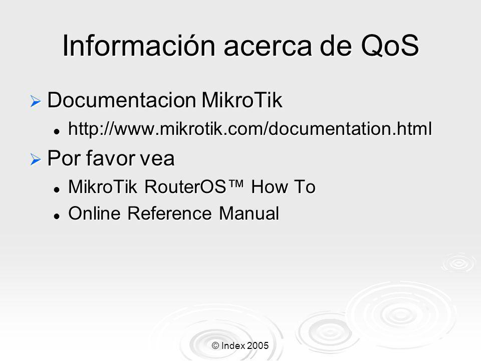 Información acerca de QoS