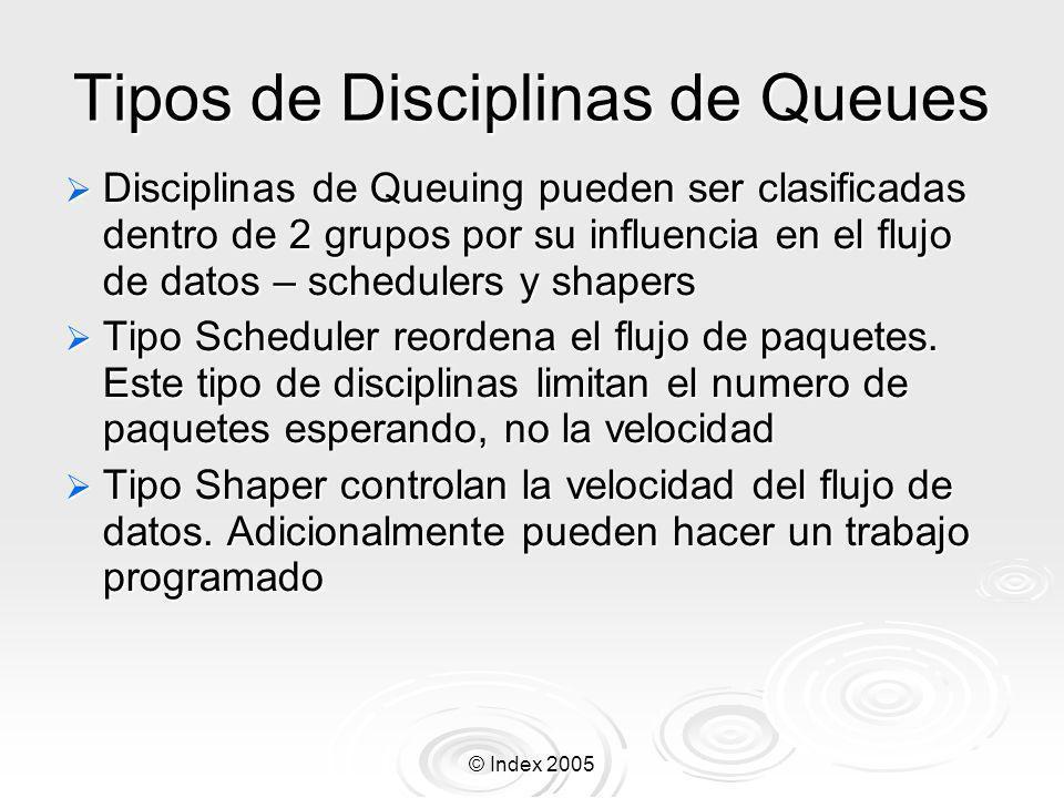 Tipos de Disciplinas de Queues