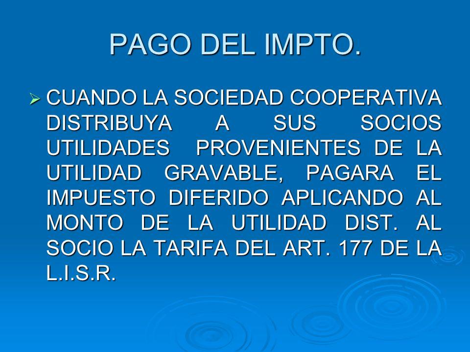 PAGO DEL IMPTO.