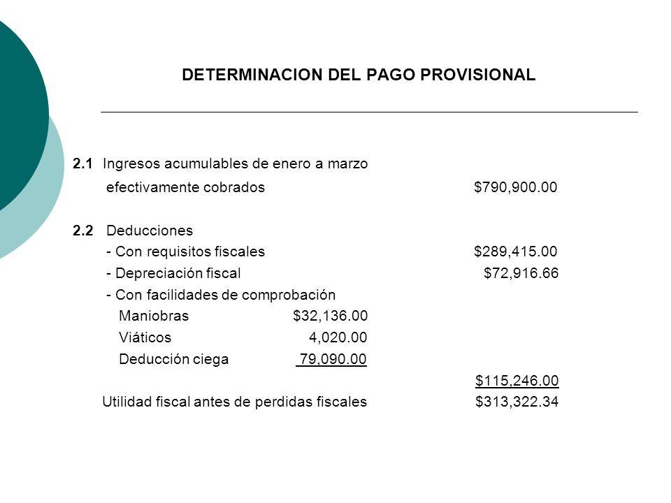 DETERMINACION DEL PAGO PROVISIONAL